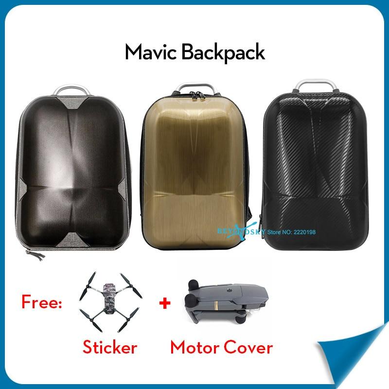 ФОТО DJI Mavic Waterproof HardShell Backpack Mavic Case bag Mavic sticker Battery charger accessories storage bag for DJI Mavic Pro