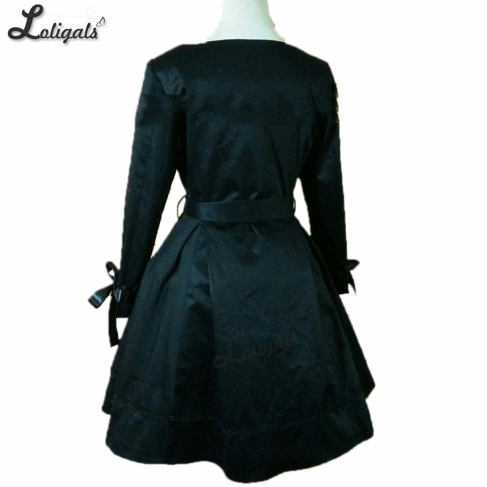 A Gótica Grande Talla Con Largo Medida Gabardina Abrigo Mujer Negro Capa Para 1xSzdvwq