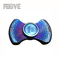 New FEGVE Fidget Spinner Metal EDC Torqbar Hand Spinner Titanium Alloy Stone Pit Grilled Blue Ceramic