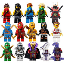 15pcs lot Ninja Figure Blocks Kai Jay Cole Zane Nya Lloyd  Compatible With Legoingly Ninjagoed TOYS For Children Modle Bricks