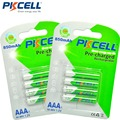 PKCELL 8Pcs/2card AAA Rechargeable Battery aaa Ni-MH 850mAh 1.2V Low Self-Discharge 3A Rechargeable Batteries Bateria
