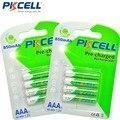 Pkcell 8 unids/2 card aaa batería recargable ni-mh aaa 850 mah 1.2 v 3a baja auto-descarga baterías recargables bateria
