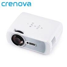 Crenova XPE460 LED Proyector Actualizado 1200 Lúmenes Resolución 800*480 Home Cinema Soporte PC Portátil TV Box USB iPad Smartphone