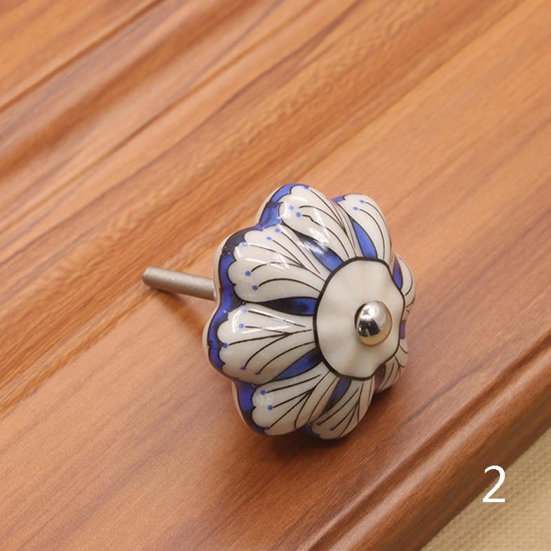 Мебельная фурнитура 40 мм ручка для мебели керамические ручки для ящиков шкафа и ручки дверный шкаф кухонные ручки - Цвет: 2
