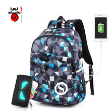 Senkey style Men Backpacks 2018 New Design USB Charging Travel Mochila Laptop Backpacks Teenagers Women Men Student School Bags