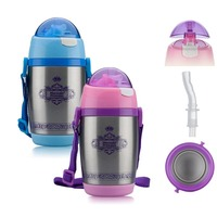 Baby stainless steel cup Thermos bottle Leakproof cup Creative cup Milk bottle With shoulder strap Drinkware