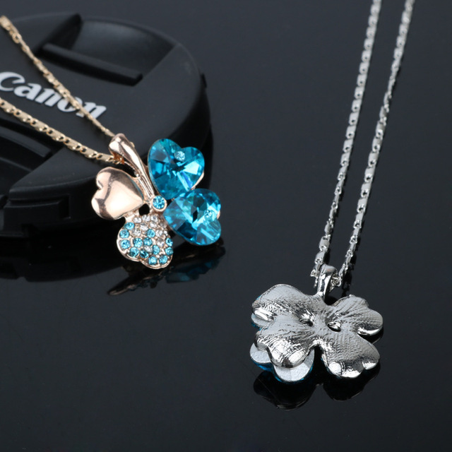 Crystal Clover Necklaces Pendants