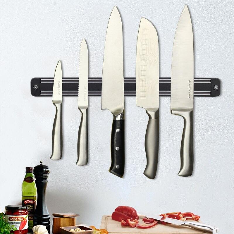 Magnetic Knife Holder 13 inch Wall Mount Black ABS Placstic Block Storage Holder Chef Rack Strip Utensil Kitchen For metal Knife