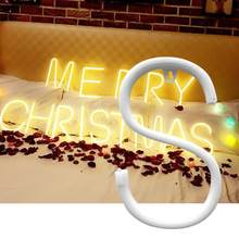 Light Decor Decorative Neon Light Letter Shape LED Lamp Decoration for Wedding Love Proposal Party Home(China)