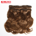 Clip In Human Hair Extensions #3 Light Brown 112g Brazilian Body Wave Clip In Hair Extensions Human Hair Clip In Extensions