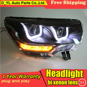Car Styling for Citroen c4l Headlights 2013-2015 Citroen C4L LED Headlight DRL Bi Xenon Lens High Low Beam HID Parking Fog Lamp
