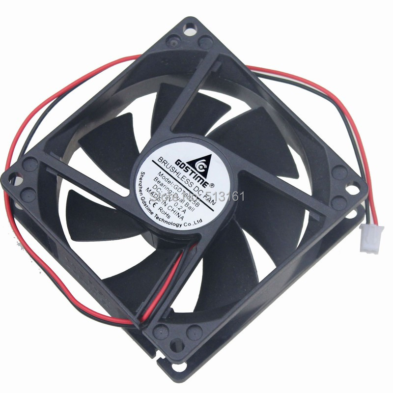 5PCS Gdstime Ball Bearing 8025 2Pin 8CM 80MM 80X80X25mm Cooler DC 12V Fan in Fans Cooling from Computer Office