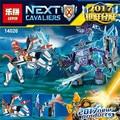 Lepin 14026 nexus knights building blocks set lanza vs aligeramiento figuras niños juguetes de los ladrillos de regalo compatible con 70359