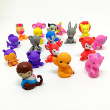 76pcs Anime Action Figure Littlest Movie Toys For Children Pet Monkey Cat Model Figurines Shop toy Girl Kids Collection