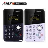 Mini Card Phone AIEK AEKU M8 Handsfree Bluetooth Message Color Screen Low Radiation Kids Pocket Mobile