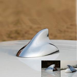 Image 3 - Shark Fin Antenna Chrome Plated Auto Radio Signal Aerials Roof Antennas for BMW/Honda/Toyota/Hyundai/VW/Kia/Nissan Car Styling