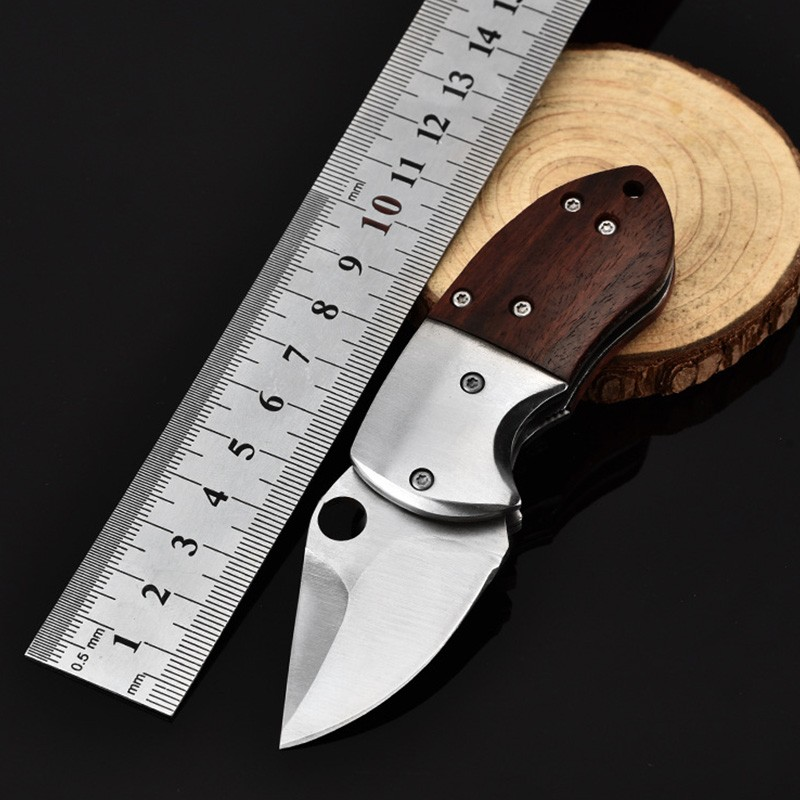 Portable Mini Folding Blade Knife Pocket EDC Tool Small Outdoor Military Survival Knives Keychain Multi Tool Self Defense Knife