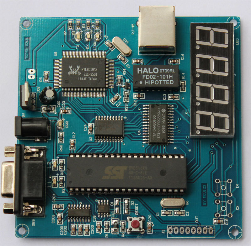 TCP/IP microcontroller development board (51 MCU) / MCU learning development board