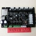 3D Motherboards inteligente controlador do painel MKS BASE2 V1.2 marlin cartão 3d diy componentes eletrônicos placa de impressão placa protoboard