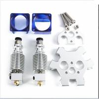 DuoWeiSi 3D Printer Parts V6 Double Extrusion Head With M4 Effector Aluminum Fisheye Deck For 3D