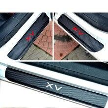 Углерода волокно потертости автомобиля стикеры двери Наклейка для порога для subaru xv стайлинга автомобилей