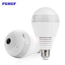 hot deal buy fghgf wifi ip camera 960p hd home security camera panoramic bulb led light fisheye with two-way audio motion detection ip camera