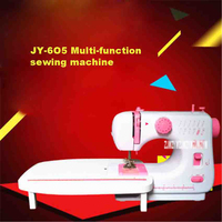 JY 6O5 Multi function Sewing Machine 9W Household Electric Mini Desktop Manual / Pedaling Sewing Machine With Extension Station