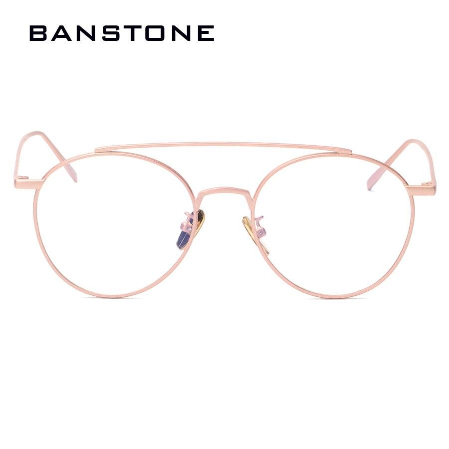 BANSTONE Runde Mens Brille Rahmen Klare Gläser Frauen Gold Brille ...