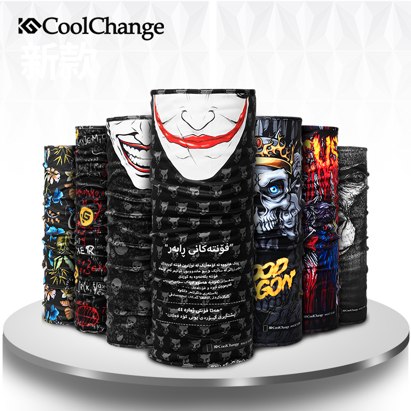 CoolChange Winter Fleece Cycling Scarf Bandana Outdoor Sports Bicycle   Headwear   Neck Warmer Mask MTB Road Bike Headband Equipment