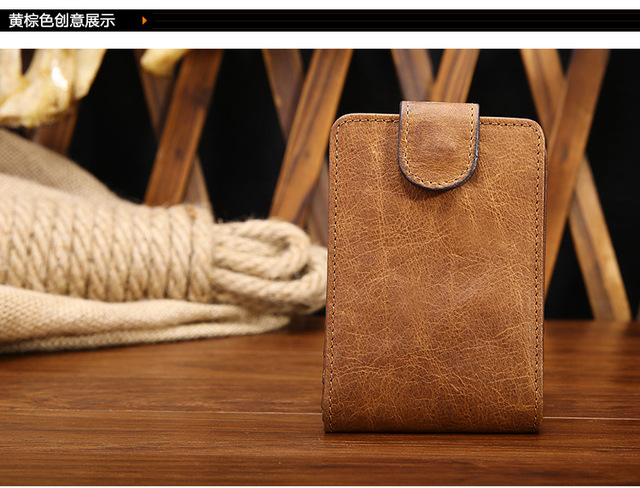 Free shipping Genuine leather card holder card holder clip first layer of cowhide general