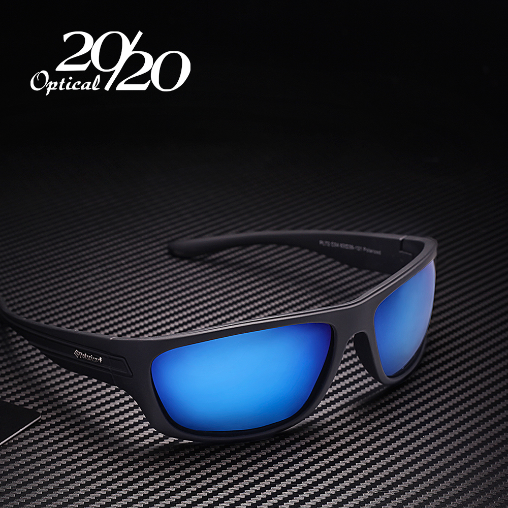 20 20 Polarized Sunglasses Men Brand Designer Blue Lens Sun Glasses Men Classic Driving Fishing Eyewear