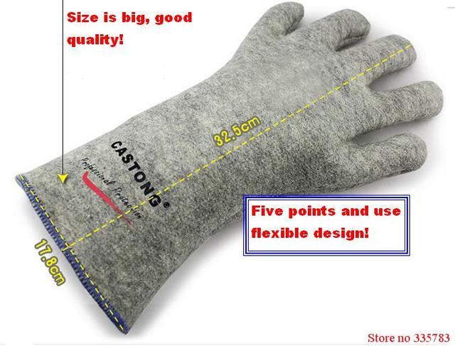 300 градусов промышленные нагревательные перчатки высокой температуры огня Перчатки Высокого качества противопожарные перчатки широко Используется