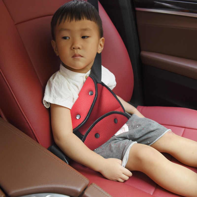 Nefes bebek emniyet kayışı araba güvenli Fit emniyet kemeri sağlam yaz örgü ayarlayıcı emniyet kemeri ayarlamak üçgen bebek çocuk koruma