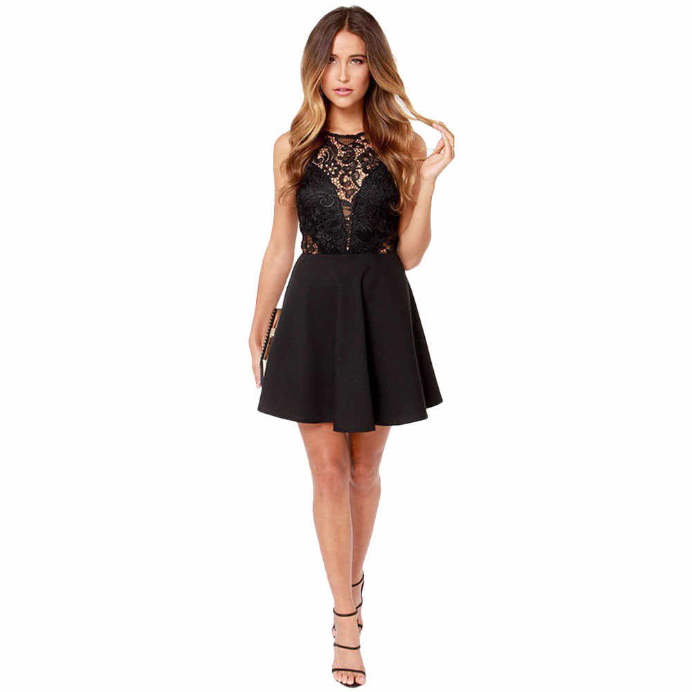 Сексуальное женское платье, модное женское кружевное платье с v-образным вырезом, без рукавов, платье для вечеринки, женское повседневное короткое платье с открытой спиной, vestido