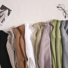 Women Sweater Turtleneck Ruched High Elastic Solid 2018 Fall Winter Fashion Slim Sexy Knitted Pullovers Pink White