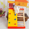 Natural Wooden Hamster Climbing Ladder Hamster Accessories Hamster Climbling Toy Small Pet Funning Accessories Pet Supplies 2