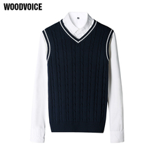 Fashion Brand Clothing Pullover Mens Sweaters V-Neck Sleeveless Vest S