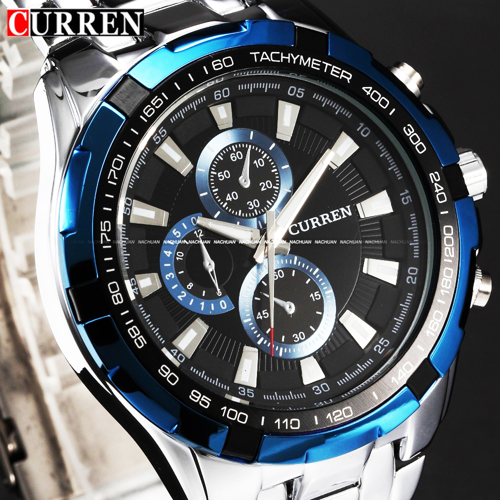 New CURREN 8023 Watches Men quartz Top Brand Analog Military male Watches Men Sports army Watch Waterproof Relogio Masculino