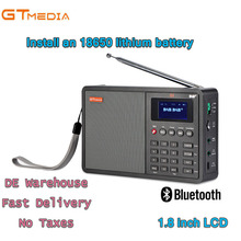 Professional Black GTMedia D1 DAB+Radio Stero For UK EU With Bluetooth Built-in Loudspeaker