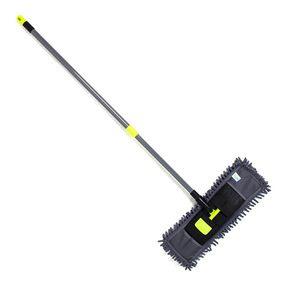 Швабра с выдвижной ручкой и тряпка из микрофибры для чистки и уборки дома - 2