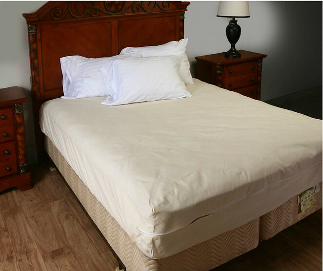 Size183x198cm smooth allerzip waterproof mattress for Bed bug mattress and box spring protector