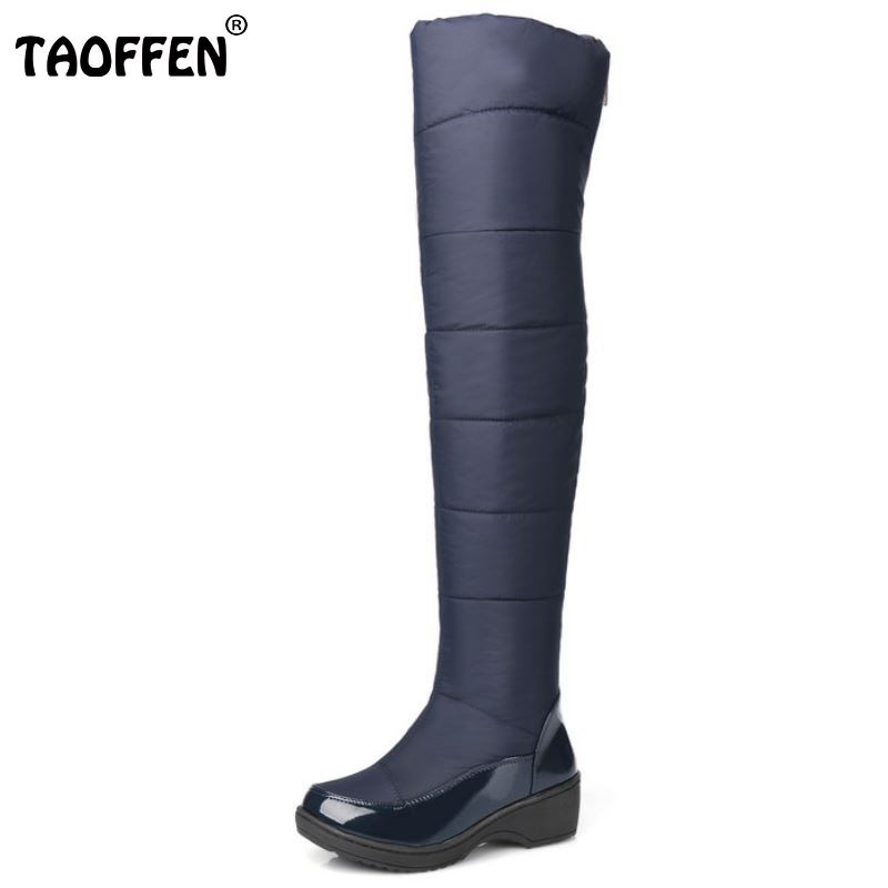New Women's Over Knee High Winter Boots Female Rubber Sole Warm Fur Shoes Outdoor Dress Platform Snow Boots Size 35-40 цена