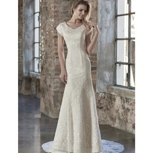 cecelle 2019 Mermaid Wedding Dresses With Cap Sleeves