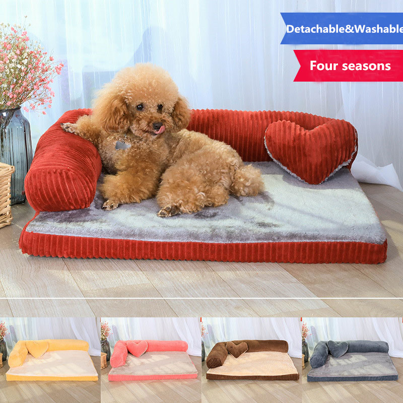Luxury Large Dog Bed Sofa Dog Cat Pet Cushion For Big Dogs Washable Nest Cat Litter Teddy Puppy Mat Kennel Pet House S M L XL companion dog