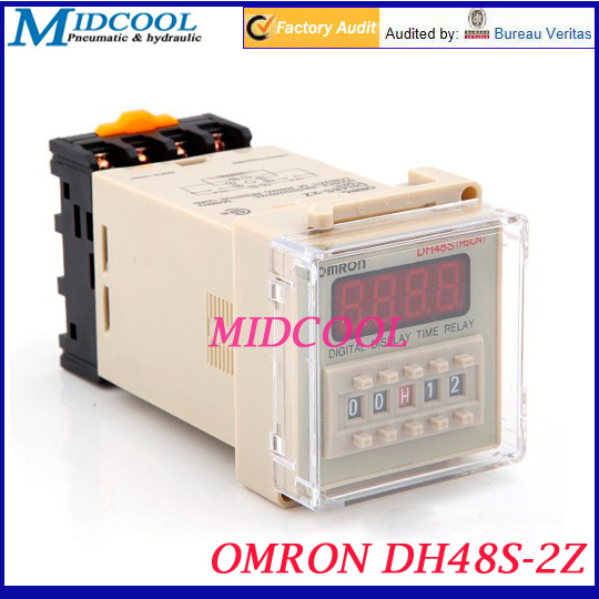 OMRON DH48S 2Z 4 digit LED Dual Time Delay Relay JSS48A 2Z 220V AC