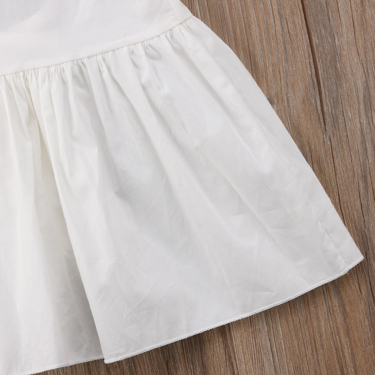 Newborn Toddle Kids Baby Girls Backless Sleeveless Dress Tops Sundress Mini Dress Cotton Summer Clothes Casual Baby Girl 0-3T