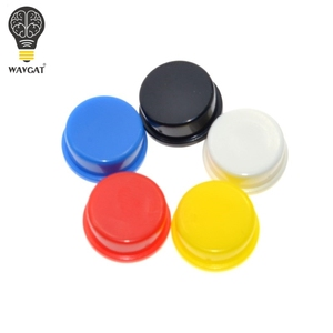 Image 5 - WAVGAT 25PCS Tactile Push Button Switch Momentary 12*12*7.3MM Micro switch button + 25PCS Tact Cap(5 colors) for Arduino Switch