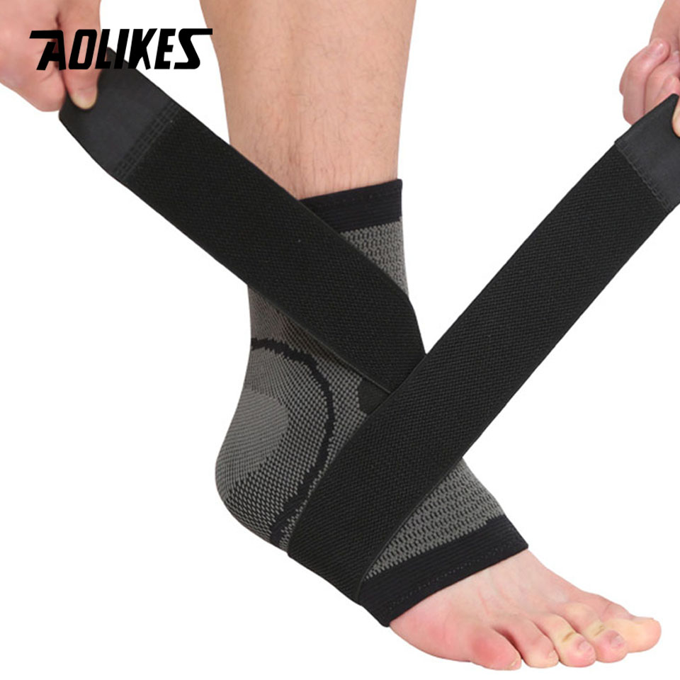 AOLIKES 1PCS Ultralight Sports Elastic Ankle Support 3D Weaving Elastic Nylon Ankle Bandage Support Brace Foot Wrap Protection kaiwei 0639 elastic crus support brace wrap black
