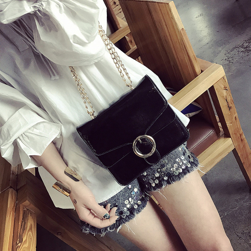ФОТО Women Bags 2017 Spring And Summer New Fashion Simple Chain Small Package Casual Wild Shoulder Messenger Bag Trend