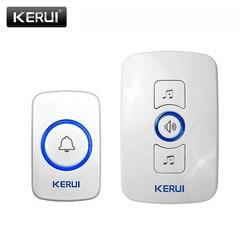 Kerui m525 sistema de campainha sem fio 32 músicas opcional campainha transmissor chime bem-vindo sistema de alarme de segurança build-in antena